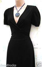 Taille 8 Vintage Années 40 Style Landgirl lindyhop tea dress Swing Noir # US 4 EU 36