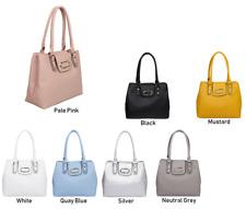 Ladie Designer Faux Leather Handbag Tote Shoulder Fashion Bag Compartments Woman