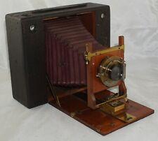 Eastman Kodak No. 5 Cartridge Kodak Camera w/ Red Bellows & Brass Lens