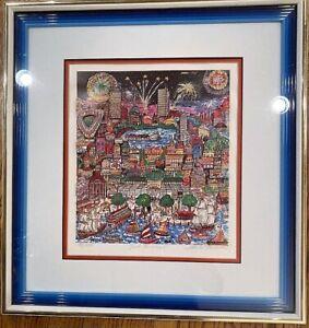"Charles Fazzino ""Just Boston"" limited edition 3D Paper Art 40/475 COA."