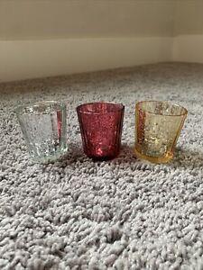 Set of 3 Mercury Glass Tealight Holders