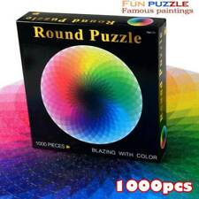 Jigsaw Puzzle 1000 Pieces Colorful Rainbow Round Educational Puzzle Adult Toy UK