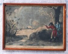 Antique Print by John Fairburn PIGEON SHOOTING Hunting Scene Framed