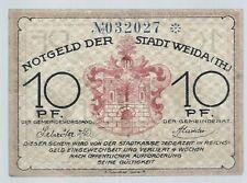 Notgeld - Stadt Weida - 10 Pfennig - Schuhfabrkation-ohne Fleiß ... - ohne Datum