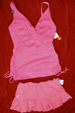 Captiva Skirted Tankini Set Size M/8/10 DD cup Retail $136 Coral