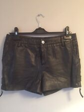 Supertrash Real Leather Black Shorts Size 36, Small