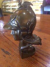 Art Deco Cast Bronze Roman Goddess Minerva Athena Bust Helmet Vintage