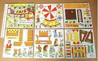 1940s Vintage Fairyglen Fair Card Cut-Out Model Book. Fun Fair Elves & Fairies