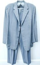 Vtg 50s Mens Suit Blue Gray Flecked Gab Wool 1940s Early 1950s 40R rockabilly