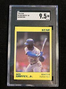 1990 Star Yellow #9 Ken Griffey Jr. Father/Son SGC 9.5 Pop 1 Rare