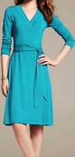 NWOT  Banana Republic Gemma Wrap Dress, Aqua SIZE XS  #949935 v1119