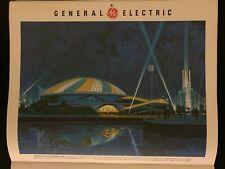 Progressland Disney Concept Art from Ge Calendar 1964 New York World's Fair Rare