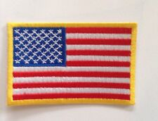 USA AMERICAN FLAG ░ Quality Iron On Patch Badge TOP GUN, NASA Costume Dressup