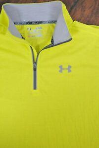 Under Armour Streaker 1/4 Zip Reflective Pullover Yellow Men's XL