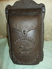 CAST IRON  PONY EXPRESS LETTER MAIL BOX  RUSTIC WALL MOUNT