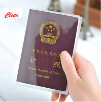 Travel Protector Clear Transparent Passport Cover Holder Case Organizer ID Card