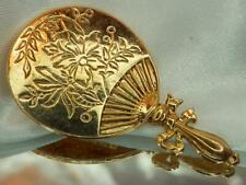 Vintage 1928 Co Hand Mirror Gold Tone Brooch 254M0