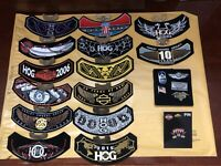 Harley-Davidson Owners Group 34 Patches Lot and Pins 2004-2016 & More, Gold-Tone