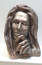 "Marley Sculpture, Gypsum casting of original art work, copper color, 7""x5""x4"