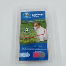 New PetSafe/Premier Dog Nylon Easy Walk Harness Reduce Pulling Raspberry & Gray