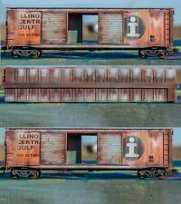 HO Scale Illinois Central Boxcar Weathered ICBoxW