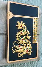 Vtg ST Dupont Paris Gold Dragon Cigarette Lighter Laque de Chine Made in France
