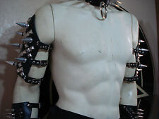 LEATHER GIANT SPIKES AND STUDS ARMBANDS..... (MDLA0306) .....SARKE'S...