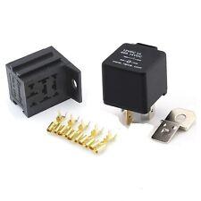12V 4 PIN 40 AMP normalmente aperto Automotive Relè con base di montaggio e terminali
