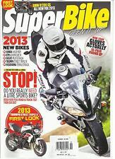 SUPER BIKE MAGAZINE, NOVEMBER, 2012 ( BMW R1200 GS ALL NEW FOR 2013 ) 2013 NEW