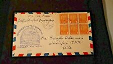 Canadian Airmail First Flight from Goldfields to Fort Chipewyan 1935 1c Bkt Pane