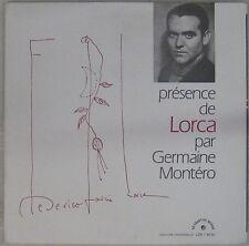 Federico Garcia Lorca 33 tours Germaine Montéro