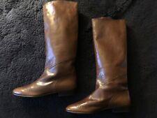 Bottega Veneta Italy Vintage Brown Riding Style Boots 1970s 1980s Size 8B 38 39