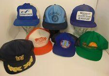 Vintage Trucker Hat Lot of 7 1980s Farm Patch Snapback Trucker Hat MADE IN USA B