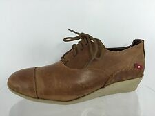 Oliberte Womens Womens Brown Leather Shoes 11