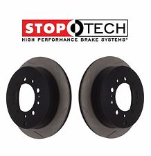 For Lexus LX570 Toyota Land Cruiser StopTech Set Pair Rear Slotted Brake Rotors