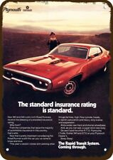 1971 PLYMOUTH ROAD RUNNER 383 Car Vintage Look METAL SIGN - STANDARD INSURANCE