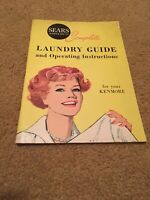 Vtg 50-60's Sears Roebuck & Co Laundry Guide & Operating Instructions Kenmore