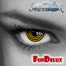 Kontaktlinsen farbig (Black Spirit (030)) Crazy Fun Helloween Party Motiv