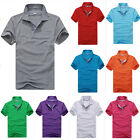 2016 Mens Sports Summer Short Sleeve Solid T Shirt Casual Polo Tops Shirts
