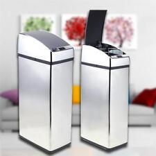 6L Kitchen Waste Bin Auto Automatic Sensor Stainless Steel Trash Can Dustbin