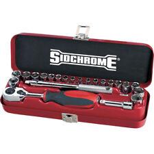 """Sidchrome 23pce Combo Socket Set AF & Metric 1/4"""" - SCMT12110"""