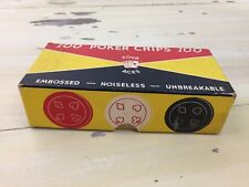 VTG POKER CHIPS - Embossed, Noiseless, Unbreakable, 100 Chip Set, Four Aces