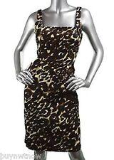 Calvin Klein Animal Print Sophisticated Summer Dress $120 NWT SZ 10 Stretch
