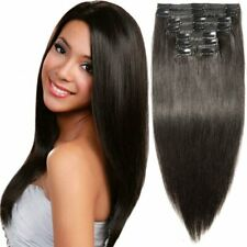 """S-noilite 10""""-22"""" Thick Double Weft Grade 7A Clip in Remy Human Hair Extensions"""