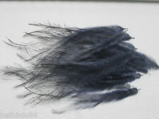 EMU FEATHERS DYED,,BLACK, tail medium/long
