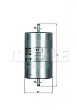 Kraftstofffilter für Kraftstoffförderanlage KNECHT KL 9