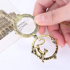 Halskette mit Lupe zum Aufklappen XXL PulloverKette Gold Modeschmuck Katze
