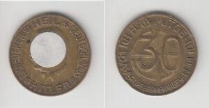 Drittes Reich, 30 Pfennige o.J., Spendenmarke, Bronze, ss