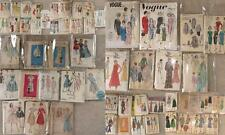 Vintage LOT 55 Sewing Patterns 1940s 1950s 60s 70s Vogue McCalls Womens Clothing