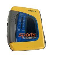 Sony Sports Walkman WM-FS191 AM/FM Radio Cassette Player Tested  Working